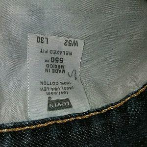 Levi's 550 Big Mens Blue Jeans 52x30 EUC